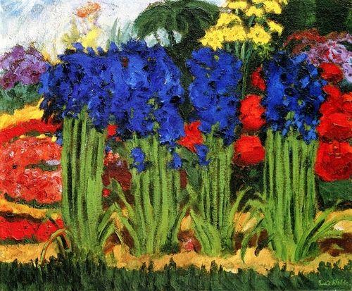 Emil Nolde, Flower Garden