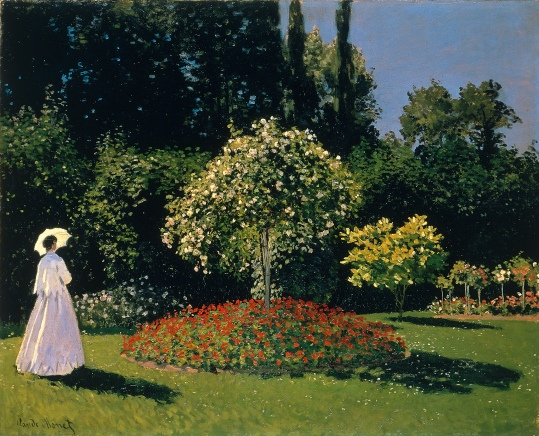 Monet Woman in the Garden